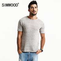 SIMWOOD Brand New Summer Shorts Sleeve T Shirts Men 2017 100 Pure Linen Fashion Tees Plus