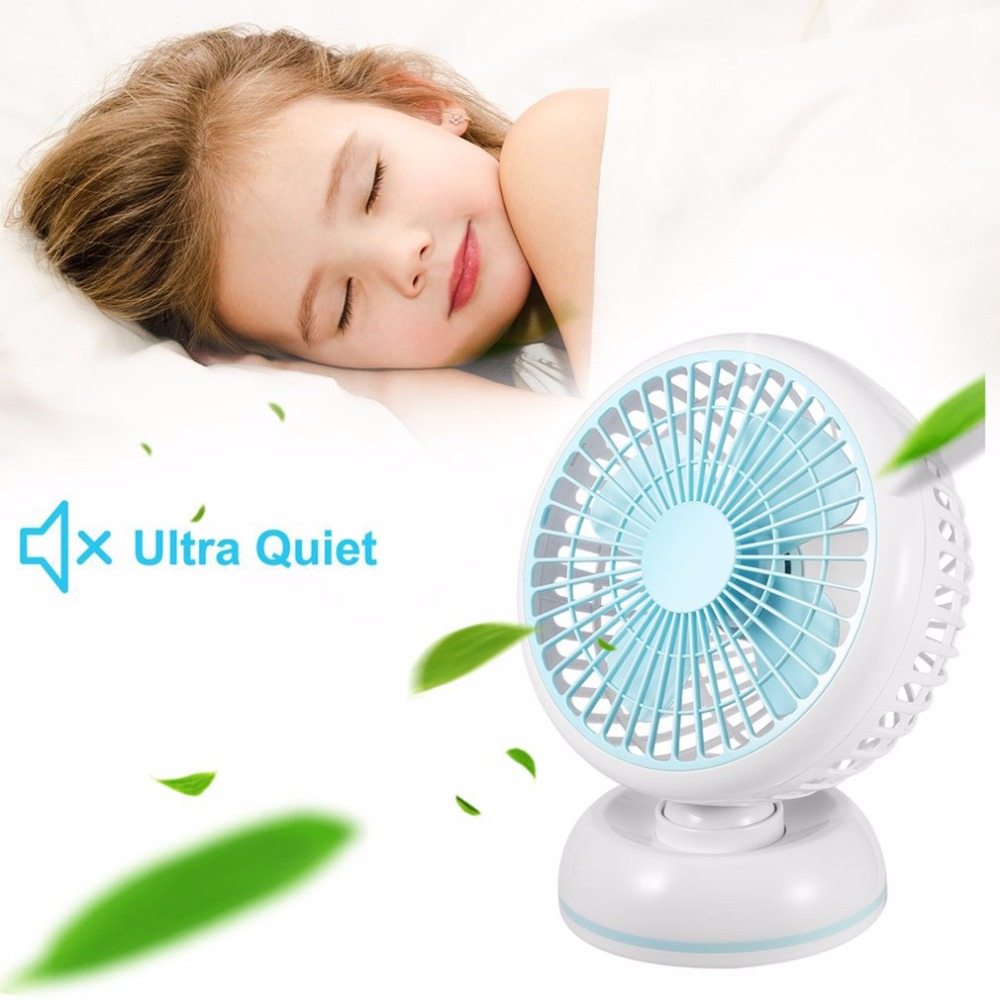 Mini USB Desk Fan 7 Inches Portable Summer Cooling Fan Super Silent Desktop Fan Simple Color Electric Fan For Home Office