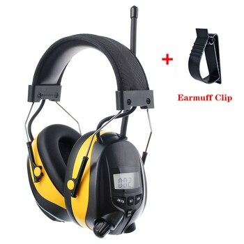 НРР 25dB MP3 AM FM радио защиты органов слуха электронные противошумные наушники Шум снижение защитные наушники для работы