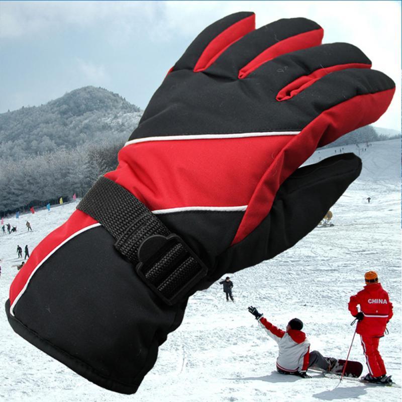 Men Women Windproof Waterproof Warm Cycling Ski Snow Snowmobile Snowboard Full Finger Skiing Gloves
