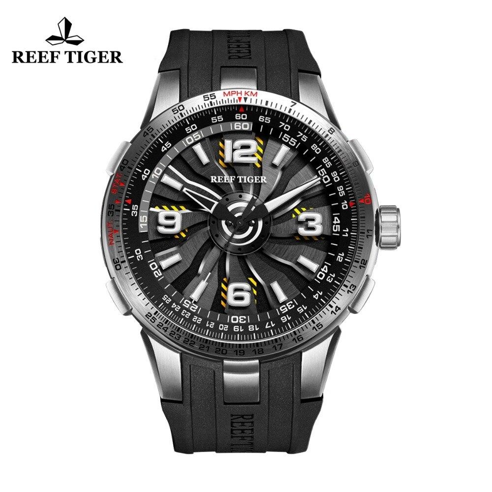 Nuovo Reef Tigre/RT Militare Orologi per Gli Uomini In Acciaio Inox Orologi Automatici Cinturino In Gomma Vortice Quadrante Vigilanza di Sport RGA3059