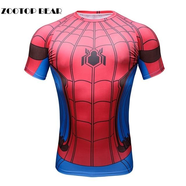 New 3D Spiderman Batman Tops Men T Shirt Compression Funny Tees Male  Crossfit Boy Camisetas Short Sleeve T-shirt ZOOTOP BEAR 173dadcc8d8b0