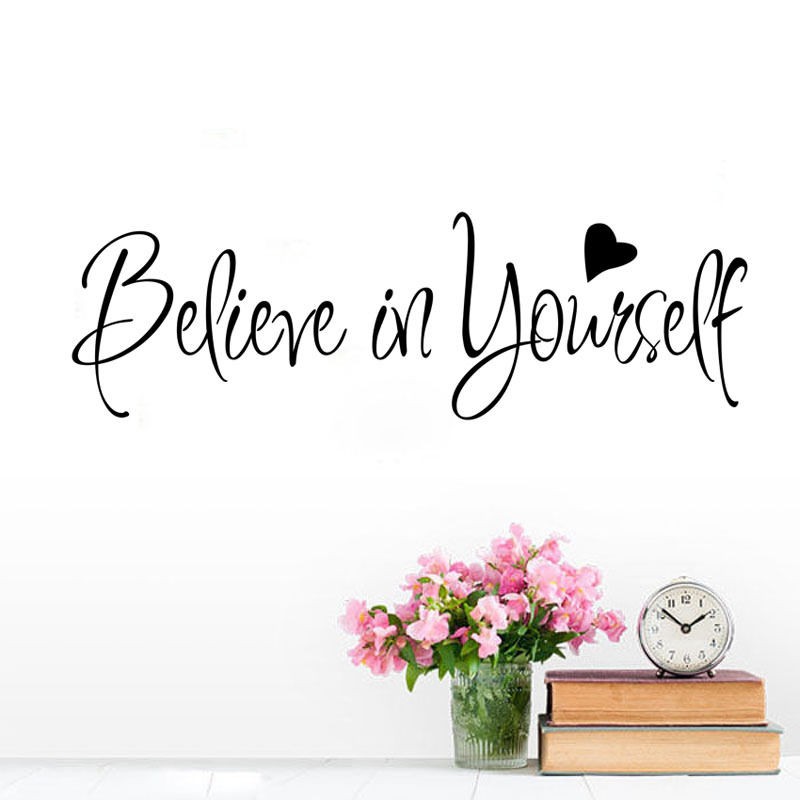 Believe In Yourself Quotes: Believe In Yourself Quote Wall Sticker For Kid Bedroom