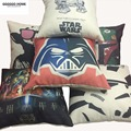 GGGGGO HOME, linen/cotton fabric American style printed euro pillow,Christmas/home/car/sofa decorative cushion cover,star wars