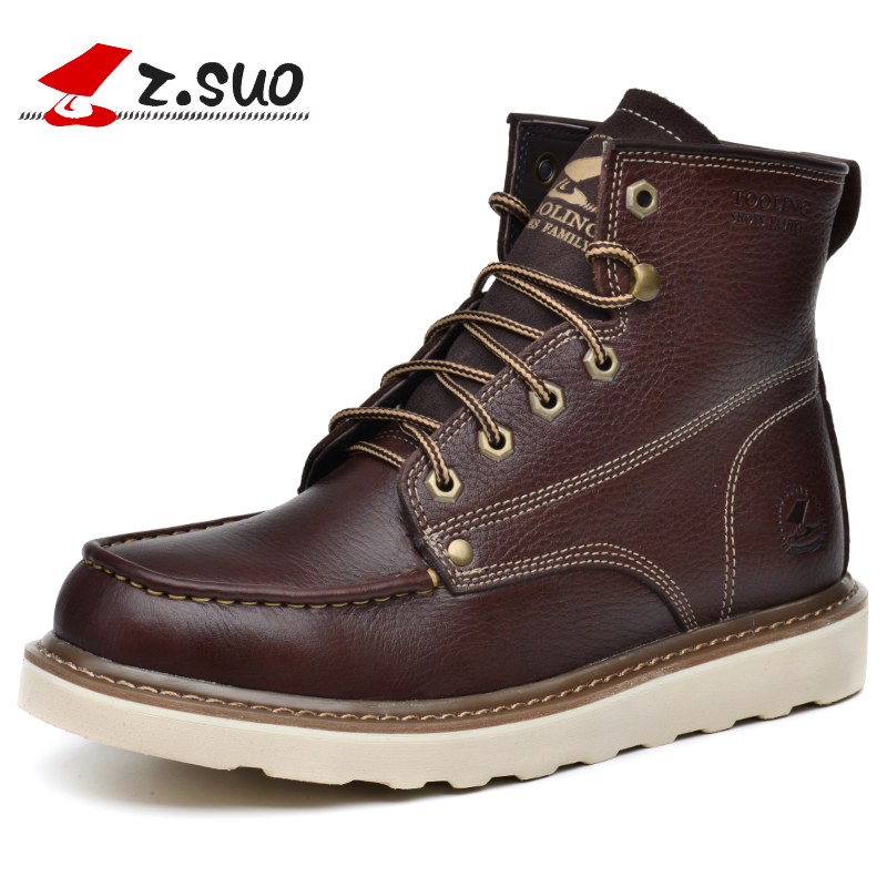 Z. Suo men 's boots, in the fall and Spring fashion canister boots for men, the high quality brand shoes. zapato zs16206 z suo men s shoes leather buckles casual men s shoes fashion high pure color for flat shoes with man zs1609