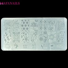 10การออกแบบพลาสติกแผ่น 1ชิ้น/ล็อตBC Seriesดอกไม้ลูกไม้แม่แบบภาพเล็บภาพปั๊มพิมพ์แผ่นBC10