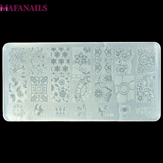 10 видов конструкций пластмассовая штамповочная пластина 1 шт./лот серия BC цветок кружева шаблон изображения дизайн ногтей изображение штамповки полировка печать пластина BC10