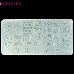 Image 1 - 10 Designs Plastic Stamping Plate  1PCS/Lot BC Series Flower Lace Image Template Nail Art Image Stamping Polish Print Plate BC10