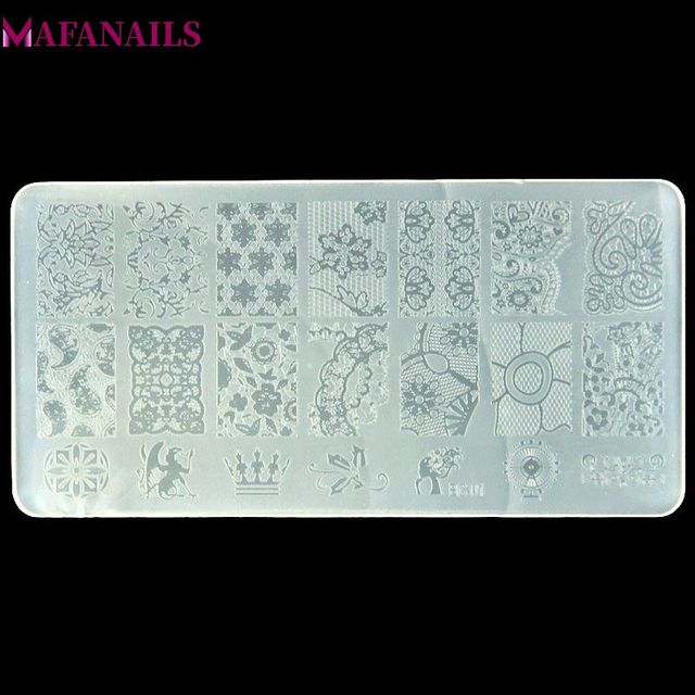 10 Designs Plastic Stamping Plate  1PCS/Lot BC Series Flower Lace Image Template Nail Art Image Stamping Polish Print Plate BC10
