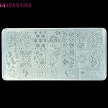 Placa de estampación de plástico, 10 diseños, 1 unids/lote, serie BC, plantilla de imagen de encaje de flores, arte de uñas, imagen de estampación, Placa de impresión de esmalte BC10
