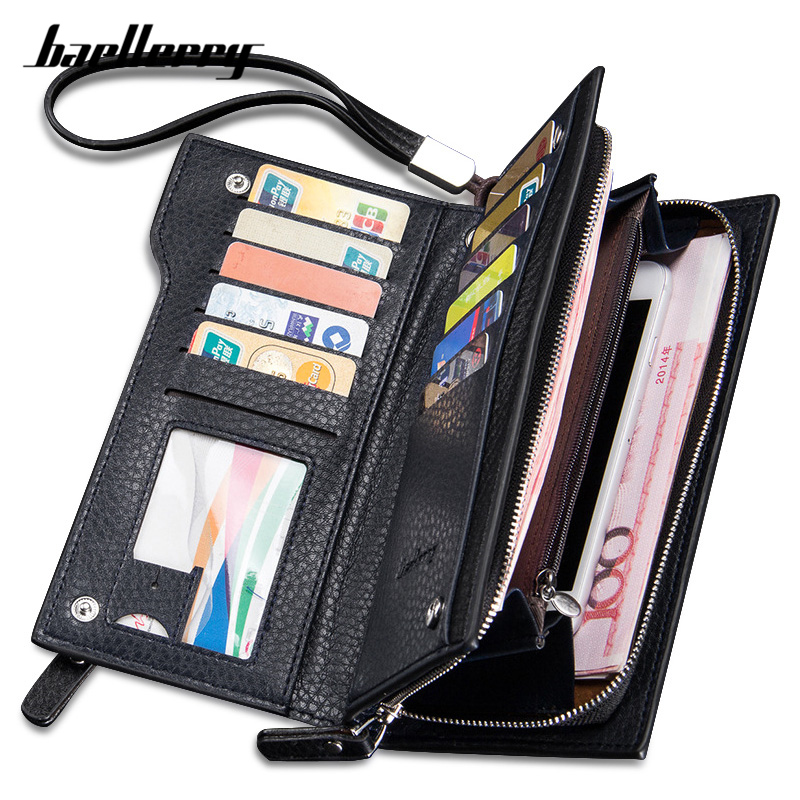 Brand Solid Men Clutch Wallets Zipper PU Leather Long Wallet Pone Coin Pocket Male Purse Casual Money Bag High-Capacity Purses slimming narrow feet zipper fly special cross print purfle pocket men s casual long pants