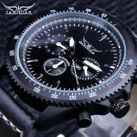 Jaragar Military Sport Mechanical Automatic Watches for Men Gear Design Complete Calendar Design Luminous Hands Clock Male