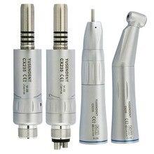 COXO, стоматологический медленный скоростной наконечник с прямым контурным углом, Воздушный Двигатель с 2/4 отверстиями для стоматологического лабораторного микромотора, внутренняя воздушная турбина