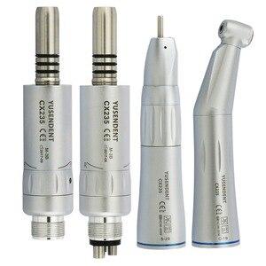 Image 1 - Coxo Dental Slow Speed Handstuk Straight Contra Hoek Air Motor 2/4 Gaten Voor Dental Lab Micromotor Innerlijke Lucht turbine Yusendent