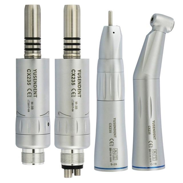 Coxo Dental Slow Speed Handstuk Straight Contra Hoek Air Motor 2/4 Gaten Voor Dental Lab Micromotor Innerlijke Lucht turbine Yusendent