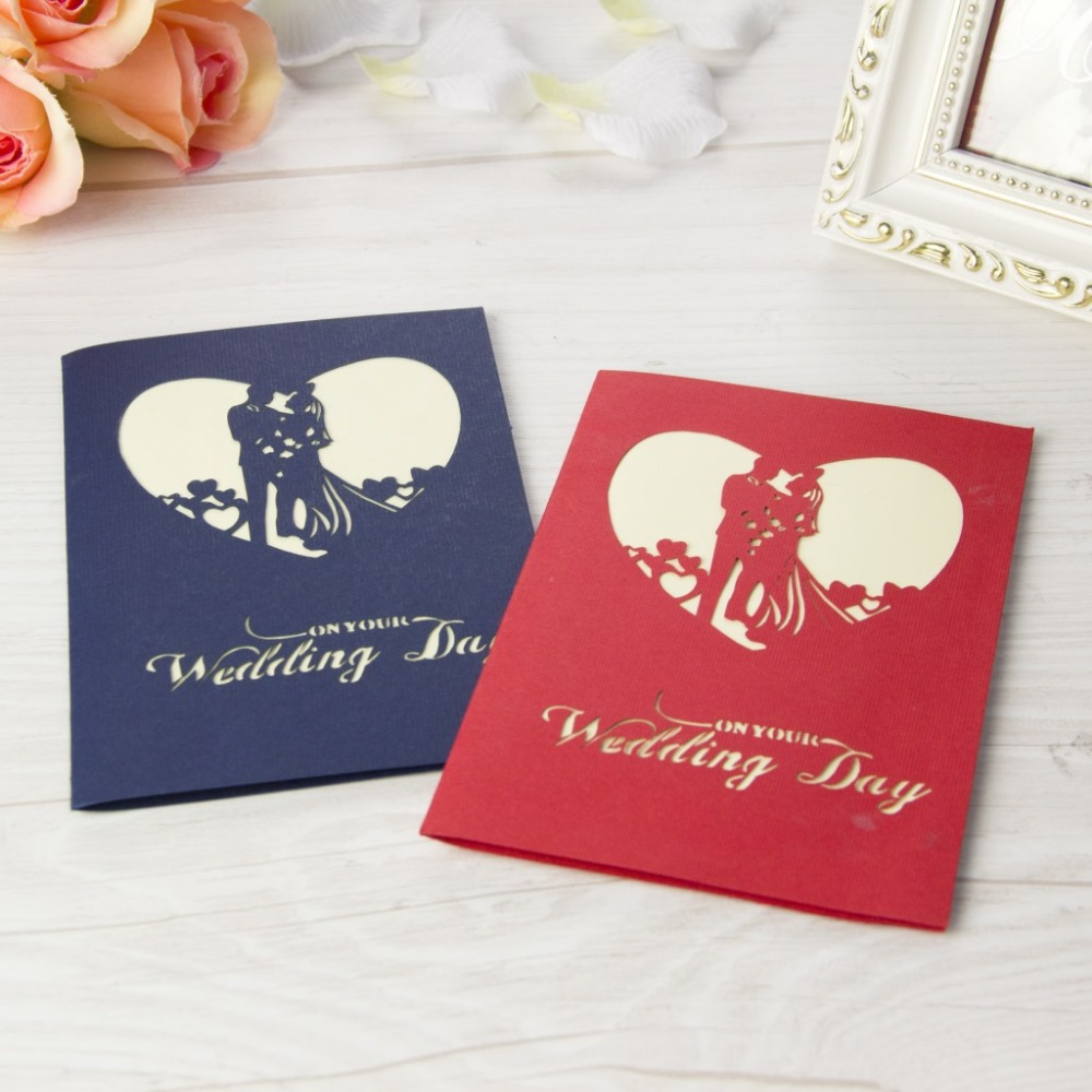 10pcsset romantic wedding day invitation card valentine love 3d 10pcsset romantic wedding day invitation card valentine love 3d handmade greeting cards with envelope paper cut pop up red card on aliexpress alibaba kristyandbryce Images