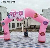 4,5 МВт приятный дизайн, декоративные арки надувные рот арки рекламы, розовый специальные формы арка для свадьбы и вечерние