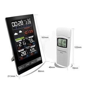 Image 2 - Digital Alarm Wall Clock Weather Station Indoor Outdoor Temperature Humidity Pressure Wind Weather Forecast 3 Outdoor Sensors