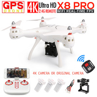 SYMA X8 Pro GPS Радиоуправляемый квадрокоптер FPV системы Радиоуправляемый Дрон с 720 P Камера или h9r 4 К/1080 P WI FI Камера 2.4 г 6 оси VS x8pro вертолет
