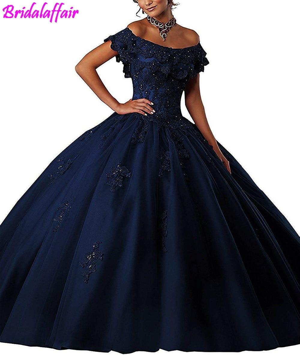 Women's Girls' Ball Gown Beads Prom Dress Lace Prom Gowns Sweet Elegant Evening Dresses vestidos de festa longo dress party