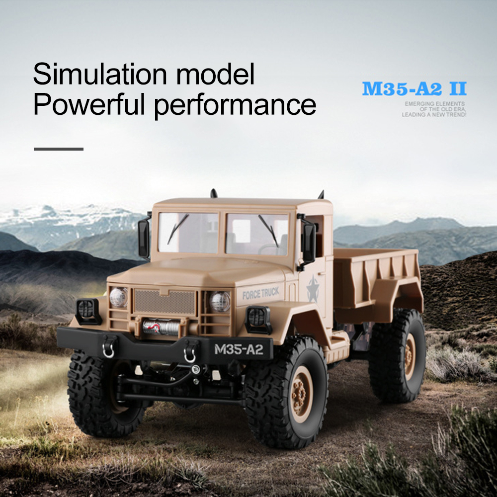 WiFi Remote Control Car 1 16 Military Truck Climbing toys For Children RC Car With Camera