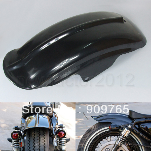 Free Shipping 1 Pcs New Black Rear Fender For Harley Sportster XL Solo Cafe Racer Bobber Chopper XL1200 883