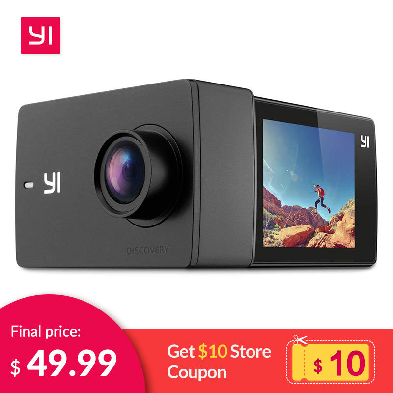 YI Discovery Action Camera 4K 20fps Sports Cam 8MP 16MP with 2.0 Touchscreen Built-in Wi-Fi 150 Degree Ultra Wide AngleYI Discovery Action Camera 4K 20fps Sports Cam 8MP 16MP with 2.0 Touchscreen Built-in Wi-Fi 150 Degree Ultra Wide Angle