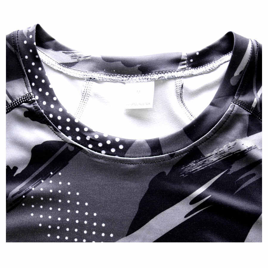 迷彩 3D プリント Tシャツメンズ圧縮シャツフィットネスタイツ Qucik ドライトレーニングトップスティー男性グラム ym ボディービルの Tシャツシャツ