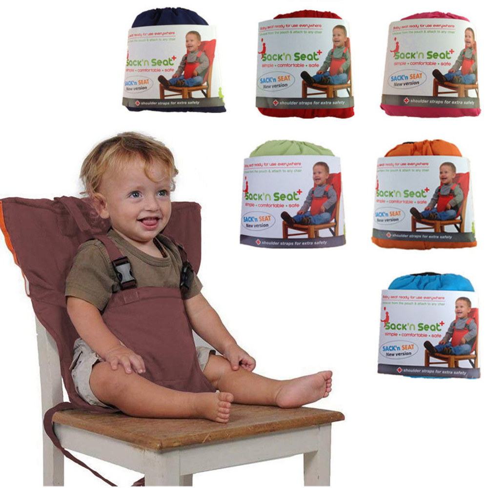 Cadeira alta do bebê cinto de segurança do curso do chicote de fios para o bebê criança alimentação impulsionador portátil fácil assento com alças ajustáveis ombro