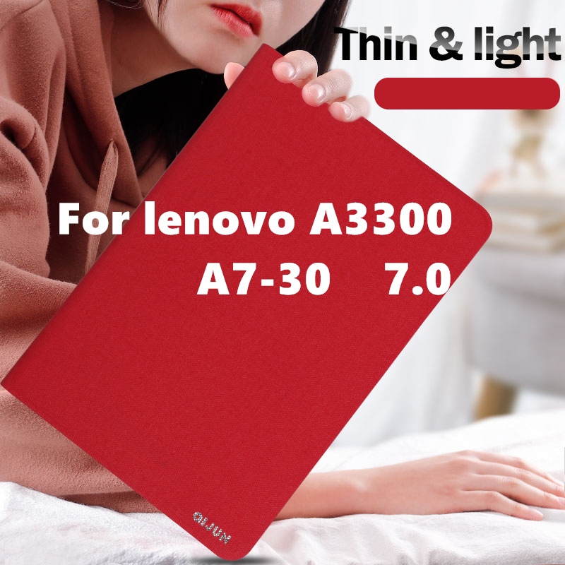 Case Cover for Lenovo A3300 Tab A7 30 Protective Protector Ultra Slim Stand Flip H a7 30 A7 30 PU Protector Sleeve Cases 7 inch in Tablets e Books Case from Computer Office