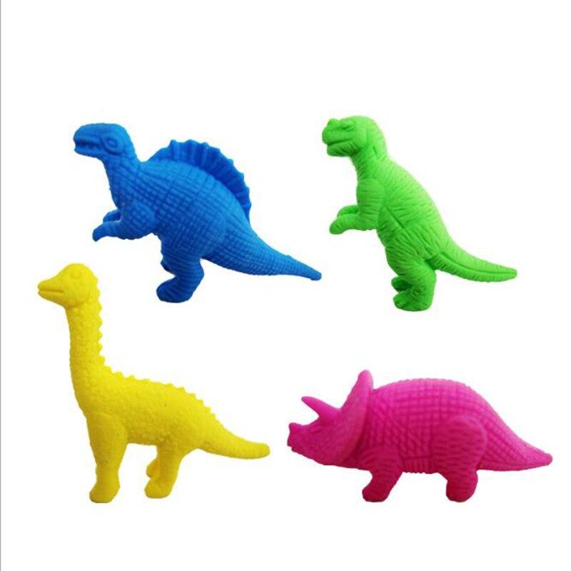3pcs Dinosaur Gomme Crocodile Eraser Kawaii Gomas De Borrar Papelaria Criativa Silgi Radiergummi Material Escolar Infantil