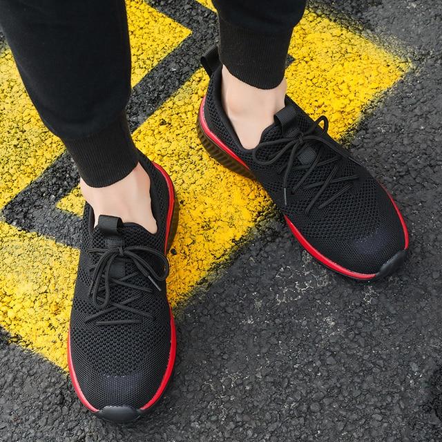 Mannen Casual Schoenen Merk Schoenen Mannen Voorjaar Sneakers Flats Mesh Slip Op Ademend Licht Heren Schoen Mannelijke Trainers Schoenen 2019 hot Koop