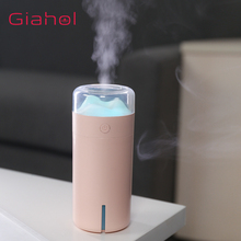 GIAHOL 200ML Auto Shut Off Ultrasonic Air Humidifier USB Portable Water Soluble Oil Aroma Diffuser with LED Night lights for car