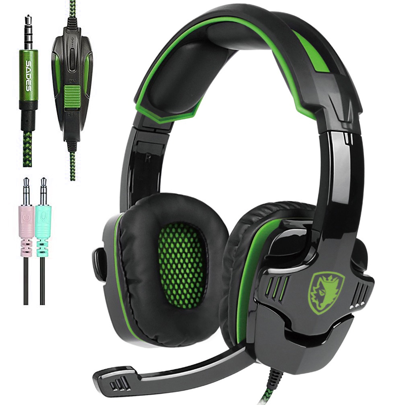 Sades SA-930 Casque PS4 Gaming headsets head set wired earphone Headphones with microphone for pc computer mobail phones