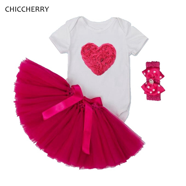 e70ab70347ab1 China Sweet Baby Girl Clothes Toddler Bodysuit Lace Skirt Set Infant  Jumpsuit Valentine Outfits Roupa De