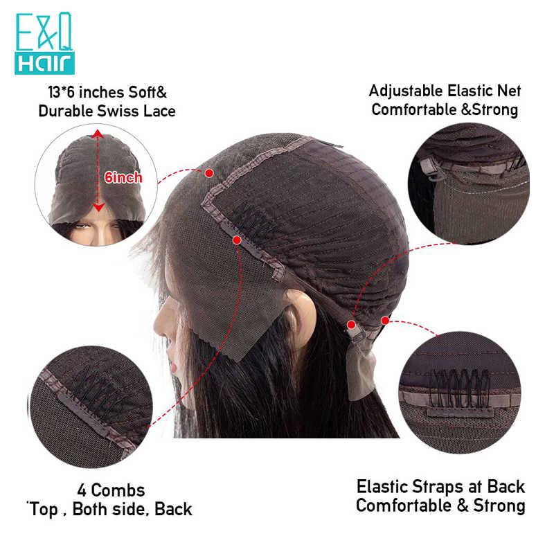 250% 13x6 кудрявые волосы на фронте шнурка человеческие парики для женщин предварительно выщипанные волосы с волосами младенца натуральные черные цвета бразильские волосы remy