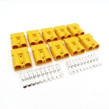 10 компл./лот 600V 50A SH50 разъем двухполюсный медные контакты солнечных панелей Кара Батарея Т-образная ручка, дюймовый стандарт анти-крышка для защиты от пыли