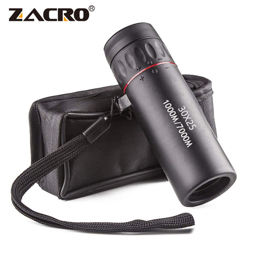 Zacro Monocular Telescope Military-Zoom Hunting High-Definition Portable Waterproof 30X25