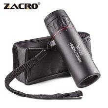 Zacro монокулярный телескоп высокой четкости 30X25 Водонепроницаемый мини портативный военный зум 10X прицел для путешествий и охоты