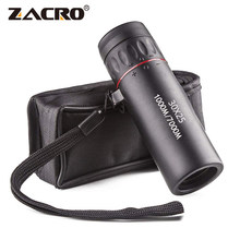 Zacro High Definition Monocular Teleskop 30X25 Wasserdichte Mini Tragbare Military Zoom 10X Umfang Für Reise Jagd(China)