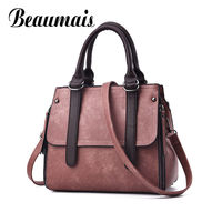 Beaumais 2017 Top Handle Bags Women Casual Leather Shoulder Bags Women Crossbody Bags For Women Luxury