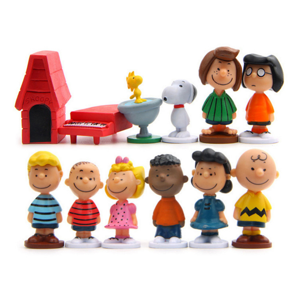 12 Styles Peanut Cartoon Figure Doll Toy Cartoon Kids Toys For Girls Children Baby Birthday Christmas Gift