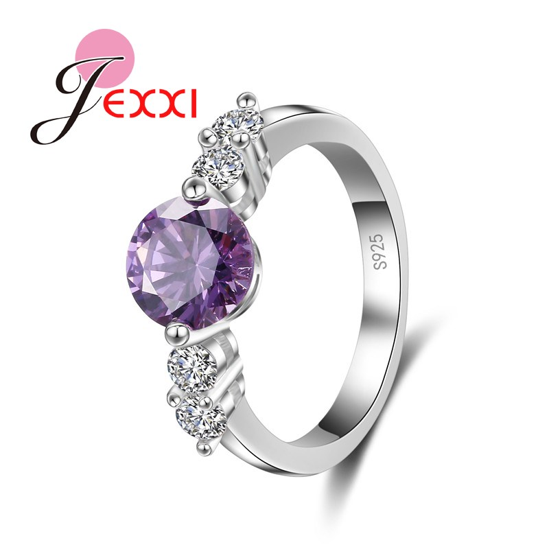 925 Sterling Silver Rings For Women Best Wedding Party Newest Coming Luxury Amethyst Finger Jewelry Ring Bijoux