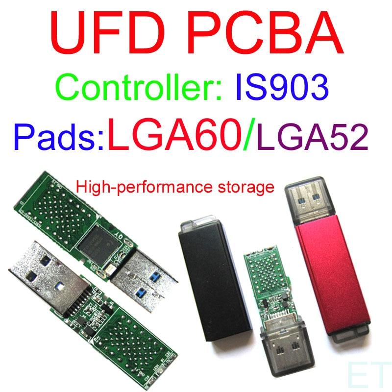 Best Quality USB FLASH DRIVE PCBA, LGA60  LGA52 Dual Pads, IS903 Controller USB3.0  PCBA with Cases, DIY UFD KITS
