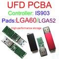Best Quality USB FLASH DRIVE PCBA, LGA60 / LGA52 Dual Pads, IS903 Controller USB3.0  PCBA with Cases, DIY UFD KITS