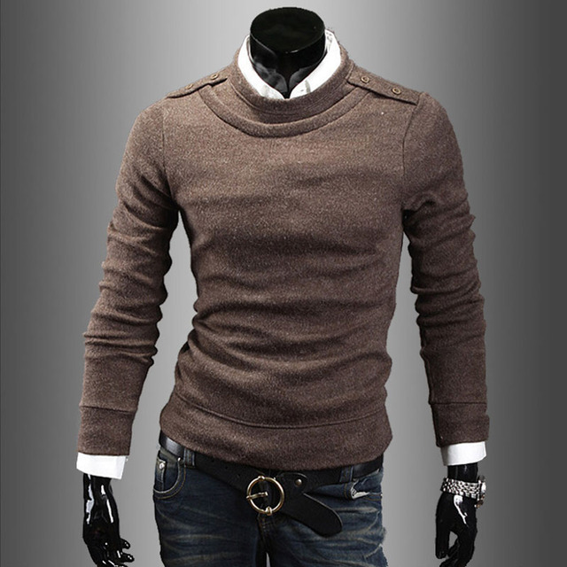 Sweater Men 2017 Brand Business Casual Pullovers Casual Sweater Male Round Neck Slim Fit Knitting Mens Sweaters Man Pullover Men
