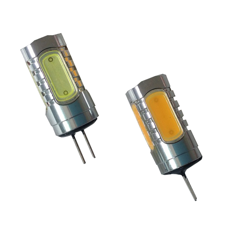 5pcs/Lot 7.5W G4 COB LED 12V Bulb Light Strip White/Warm White light source G4 Led COB Chip for Crystal Lamps spotlight DA
