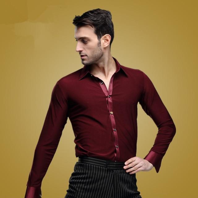 7e5d4253210c7 Nuevas camisetas de baile latino para hombres de 2016 de competición de  baile de salón de