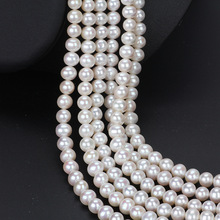 Cultured Freshwater Pearl  Round natural white A Grade 3-10mm Pearl strand pearl necklace jewelry nymph pearl jewelry natural freshwater pearl necklace pendant new trendy 9 10mm white round crown gift for girl 31cm x243