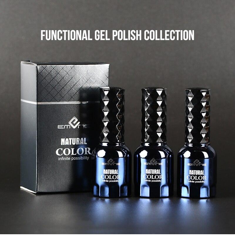 EMENE 15ml Reinforce Gel Polish Rubber Base Top Coat UV Gel Matte Top Coat  Primer Solid No Clean Wipe Sticky Layer Gel Varnish